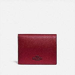 COACH 79427 - SMALL SNAP WALLET BRASS/DEEP RED