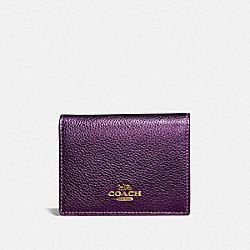 COACH 79428 Small Snap Wallet With Colorblock Signature Canvas BRASS/TAN MULTI