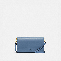 COACH 79453 - HAYDEN FOLDOVER CROSSBODY CLUTCH BRASS/STONE BLUE