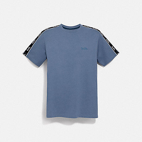 COACH 79496 HORSE AND CARRIAGE TAPE T-SHIRT SLATE