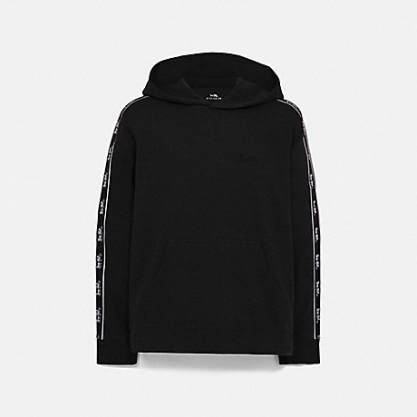 COACH 79518 HORSE AND CARRIAGE TAPE HOODIE BLACK