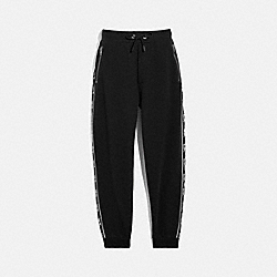 HORSE AND CARRIAGE TAPE SWEATPANTS - 79530 - BLACK