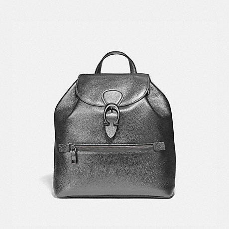 COACH 79580 EVIE BACKPACK PEWTER/METALLIC-GRAPHITE