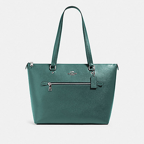 COACH 79608 GALLERY TOTE SV/DARK-TURQUOISE