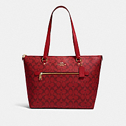 GALLERY TOTE IN SIGNATURE CANVAS - 79609 - IM/1941 RED