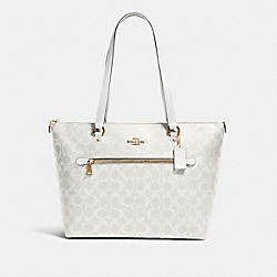 COACH 79609 - GALLERY TOTE IN SIGNATURE CANVAS IM/CHALK/GLACIERWHITE