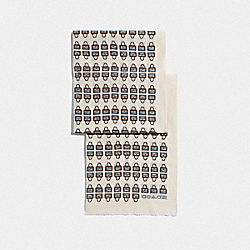 COACH 79643 - ARCHIVAL PRINT SILK OBLONG SCARF CHALK