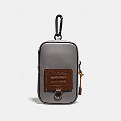 COACH 79731 Hybrid Pouch 10 In Colorblock SILVER/SADDLE