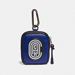 COACH 79733 Hybrid Pouch 8 In Colorblock With Coach Patch SPORT BLUE/SILVER
