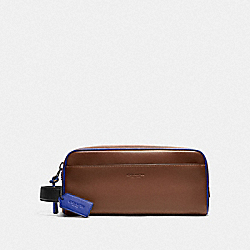 COACH 79735 Travel Kit SADDLE/SPORT BLUE