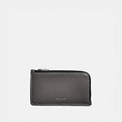 COACH 79736 - L-ZIP CARD CASE GREY/SILVER