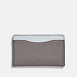 COACH 79738 - SMALL CARD CASE GREY/SILVER