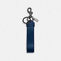 COACH 79798 Large Loop Key Fob QB/TRUE BLUE BLACK