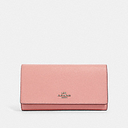 COACH 79868 - TRIFOLD WALLET SV/LIGHT BLUSH