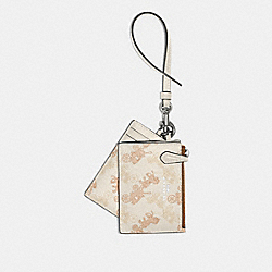COACH 79945 - LANYARD SET WITH HORSE AND CARRIAGE PRINT SV/CREAM BEIGE MULTI