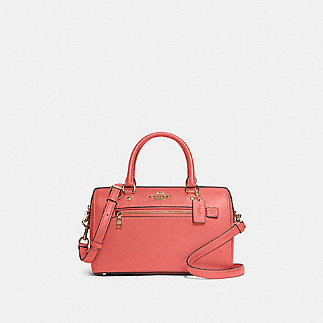 COACH 79946 ROWAN SATCHEL IM/BRIGHT-CORAL