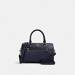 ROWAN SATCHEL - 79954 - SV/METALLIC NAVY