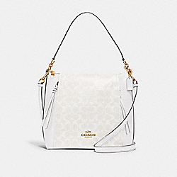 COACH 79993 Marlon Hobo In Signature Canvas IM/CHALK/GLACIERWHITE