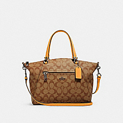 COACH 79998 - PRAIRIE SATCHEL IN SIGNATURE CANVAS QB/KHAKI HONEY