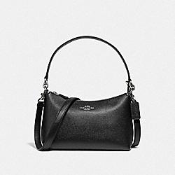 COACH 80058 Lewis Shoulder Bag SV/BLACK