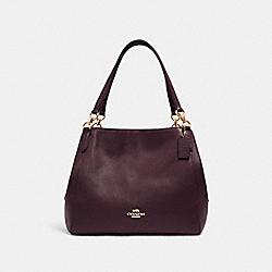 COACH 80268 Hallie Shoulder Bag IM/BOYSENBERRY