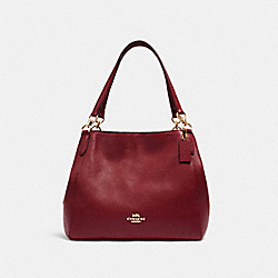 COACH 80268 Hallie Shoulder Bag IM/DEEP RED