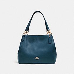 COACH 80268 Hallie Shoulder Bag IM/PEACOCK