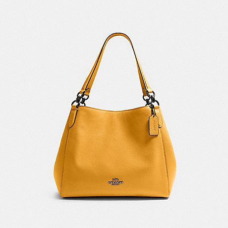 COACH HALLIE SHOULDER BAG - QB/HONEY - 80268