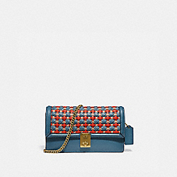 HUTTON CLUTCH WITH WEAVING - 802 - B4/LAKE MULTI