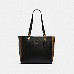 JES TOTE IN SIGNATURE CANVAS - 80810 - IM/KHAKI/BLACK