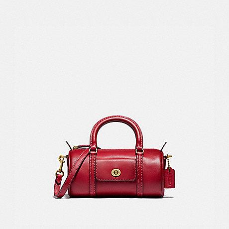COACH 832 MINI BARREL BAG B4/RED APPLE