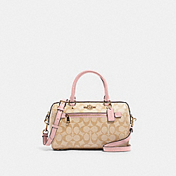COACH 83607 - ROWAN SATCHEL IN SIGNATURE CANVAS IM/LIGHT KHAKI BLOSSOM