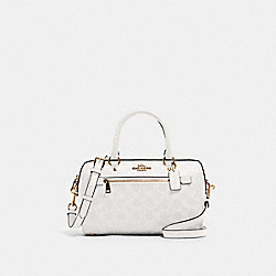 ROWAN SATCHEL IN SIGNATURE CANVAS - 83607 - IM/CHALK/GLACIERWHITE