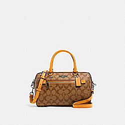 COACH 83607 - ROWAN SATCHEL IN SIGNATURE CANVAS QB/KHAKI HONEY