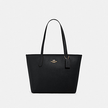 COACH 83857 ZIP TOP TOTE IM/BLACK