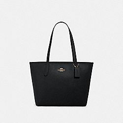 COACH 83857 - ZIP TOP TOTE IM/BLACK
