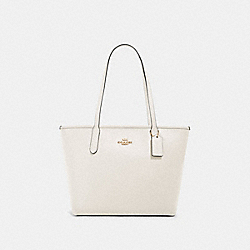 COACH 83857 Zip Top Tote IM/CHALK