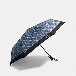 COACH 84672 Umbrella With Horse And Carriage Print DENIM