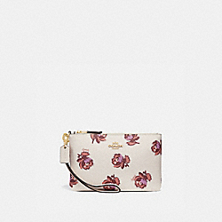 COACH 84747 - SMALL WRISTLET WITH FLORAL PRINT GOLD/CHALK FLORAL PRINT