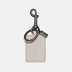 COACH 855 Storypatch Key Fob BONE/MIDNIGHT