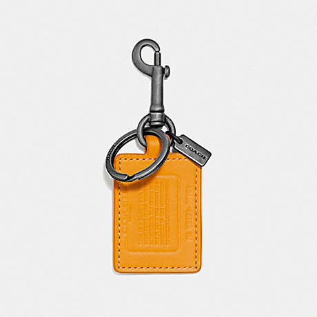 COACH 855 STORYPATCH KEY FOB POLLEN/PACIFIC