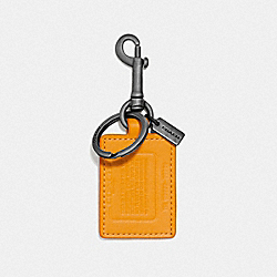 COACH 855 - STORYPATCH KEY FOB POLLEN/PACIFIC