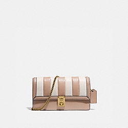 COACH 856 - HUTTON CLUTCH WITH COLORBLOCK QUILTING B4/CHALK MULTI