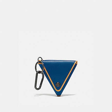 COACH 858 TRIANGLE COIN POUCH PACIFIC/POLLEN