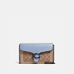 TABBY CHAIN CLUTCH IN COLORBLOCK SIGNATURE CANVAS - V5/TAN TWILIGHT MULTI - COACH 86094