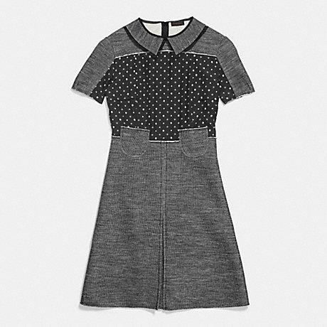 COACH APPLIED POCKET DRESS - BLACK - 86149