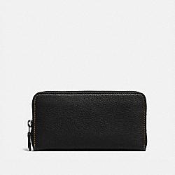 COACH 86870 Accordion Zip Wallet BP/BLACK