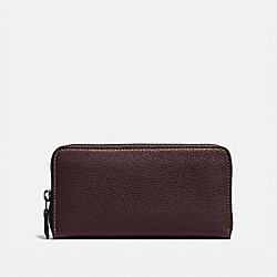 COACH 86870 - ACCORDION ZIP WALLET BP/OXBLOOD