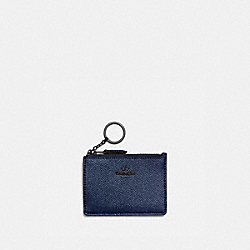 COACH 87077 - MINI SKINNY ID CASE GM/METALLIC MIDNIGHT NAVY