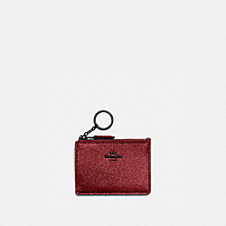 COACH 87077 - MINI SKINNY ID CASE GUNMETAL/METALLIC CLAY